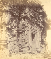 Close view of the eastern façade of the mandapa of the Surya Temple or Black Pagoda, Konarka